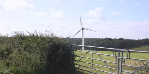 Proposed turbine at New Buildings Farm