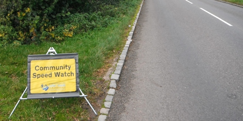 Community speed watch sign