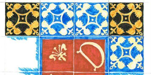 NADFAS book, tiles