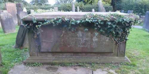 Hyatt Memorial Tomb with ivy
